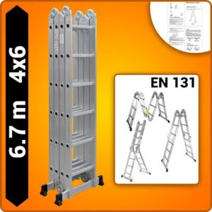 4X6 Foldable Multipurpose Multifunction Aluminium Ladder with Twin Stabilizers pictures & photos