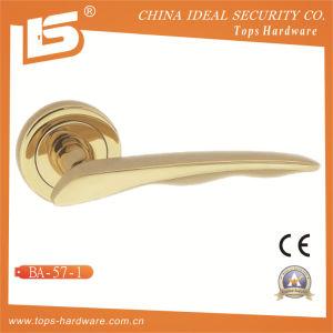 Brass Rosette Lock Door Handle-Ba571 pictures & photos