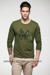 Cool Mens Cotton Terry Sweater with Custom Print Logo pictures & photos