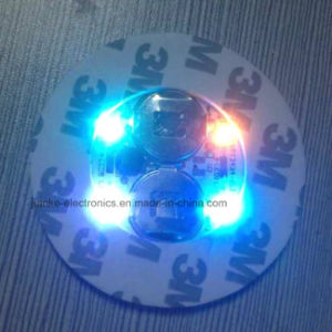 Popular Customize LED Light up Cup Sticker with Logo Printed (4040) pictures & photos