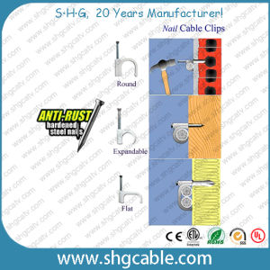 Anti-Rust Hardened Steel Nail Cable Clips pictures & photos