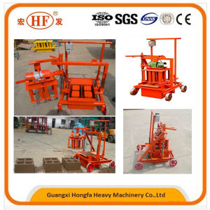 Qtj2-45 Small Mobile Manual Concrete Hollow Block Making Machine pictures & photos