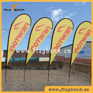 2.8m Exhibition Aluminium Double Side Printing Teardrop Banner/Flying Banner pictures & photos