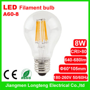 8W LED Filament Bulb CE Approval (A60-8)