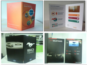 LCD Video Brochure-Video Card in A5 Paper, Glossy Finishing pictures & photos