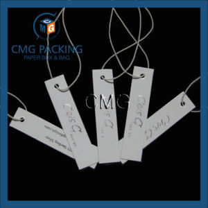 White Paper Card Hang Tag for Jewelry and Clothing (CMG-055) pictures & photos