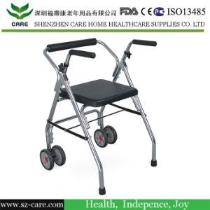 Aluminum Lightweight Adjustable Folding Rollator Walker Walking Aids for Disabled pictures & photos