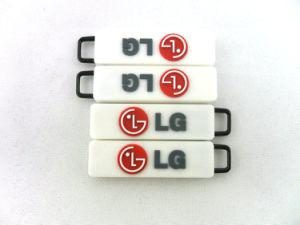 Custom PVC Debossed Puller Zipper pictures & photos