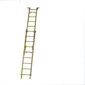 (375LBS) 220kv 5m Fiberglass Single-Side Grooved Rails Extension Ladder pictures & photos