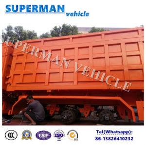 Three Axle 45cbm Heavy Dump Truck/Tipper Dumper Truck Trailer pictures & photos