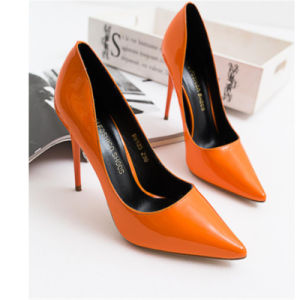 Orange Latest Fashion Girls High Heels