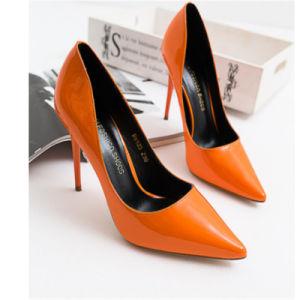 Orange Latest Fashion Girls High Heels pictures & photos