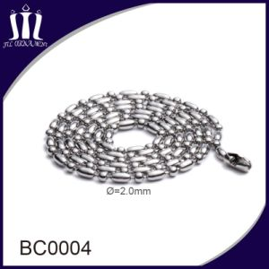Fashion 2.0mm Colored Metal Bead Chain Necklace for Cross Pendant pictures & photos