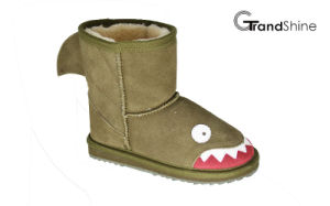 Kids New Arrival Shark Suede Snow Boots pictures & photos