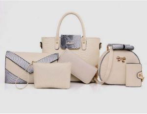 Women 6PCS Set Combos PU Leather Designer Handbags (XM0310) pictures & photos