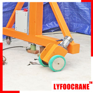 Manual Portal Crane with Electric Chain Hoist Lifting Crane pictures & photos