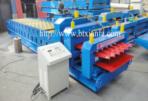 Arc Cut Double Deck Color Steel Roof Roll Forming Machine (XF31-18)
