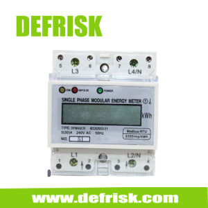 DIN Rail Mounted Single Phase Meter with RS485 (MODBUS) Communication 4 Modular