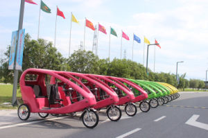 Electric Pedicab Rickshaw Velo Taxi 48V 1000W (300K-06) pictures & photos