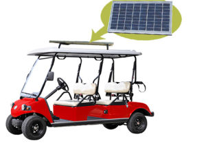 Solar Panel Electric Golf Car with 4 Seater (DEL3042G) pictures & photos