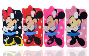 Cute Minnie Silicone Cell Phone Case for Motorola G3 LG X Style X Power X Green (XSD-006)