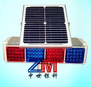 High Luminance Solar Traffic Warning Light / LED Flashing Warning Light pictures & photos