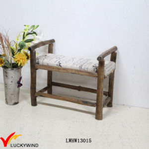 Solid Wooden Antique Small Upholstered Bench pictures & photos