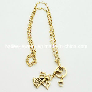 Wholesale Stainless Steel Plated Gold Necklace with Charm Pendant pictures & photos