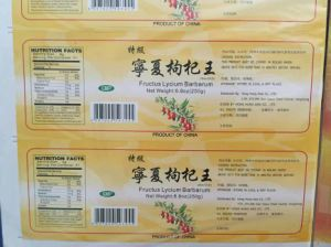 Cmyk Printing Barcode and Adhesive Sticker Label pictures & photos