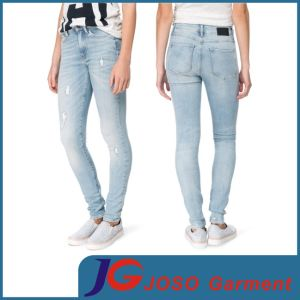Women Skinny Ripped Denim Pants (JC1047) pictures & photos