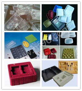 Disposable Plastic Food Container Trays Vacuum Thermo Forming Making Machine pictures & photos