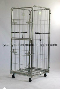 China Made Zinc Plated Split Door Roll Container pictures & photos