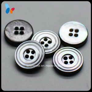 12mm Fashion Black Mop Shell Button Sew on Button pictures & photos