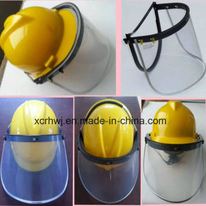 Protective Face Mask, PC/PVC Faceshield Visor, Face Shield with Safety Helmet, PVC Face Shield Visor, PC Face Shield Visor, PC Green Faceshield Visor