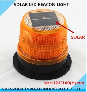 Solar LED Beacon Light, Amber Strobe Warning Lamp