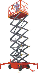 9m Height Man Operation Lift Platform (SL0.5-9) pictures & photos