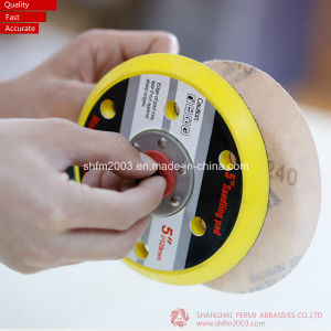 125mm, P120, Sanding Magic Tape Discs with 6 Holes (Professional Manufacturer) pictures & photos