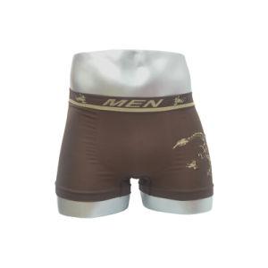 Nylon Seamless Men′s Boxer with Printed Belt
