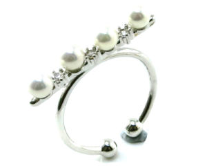 Factory Price Newest Design Fashion Jewelry 925 Silver Pearl Ring (R10382) pictures & photos