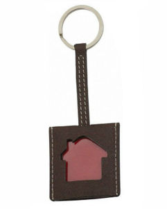 OEM Design Fashion Leather Photo Keychain pictures & photos