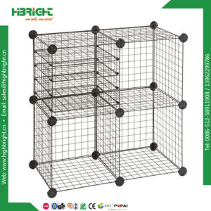 Interlocked Modular Grid Wire Mesh Storage Cubes pictures & photos