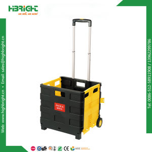 Plastic Shopping Folding Boot Cart Crate pictures & photos