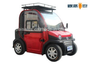Double Seat Mini Motorized Cars, New Energy Neighborhood Electric Car pictures & photos