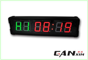 [Ganxin] 4 Inch Double LED Display Fitness Digital Clock pictures & photos