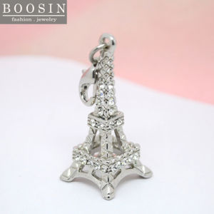 Fashion Silver Tower Crystal Pendant Jewelry Charm for Necklace pictures & photos