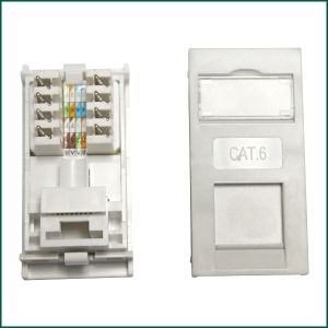 CAT6 Keystone Jack 90 Degree UK Type for Information Outlet pictures & photos