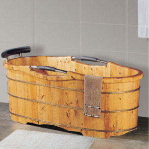 Sanitary Ware Bathroom Wooden SPA Bathtub Hot Tub (NJ-051A) pictures & photos