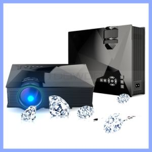 800*480 Native Resolution Uc46 Home HD 1080P Wireless WiFi Mobile Smart LED Projector pictures & photos