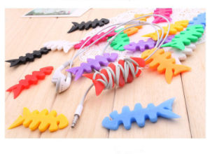 Multi-Color Fashionable Silicone Fish Bone Cable Winder pictures & photos