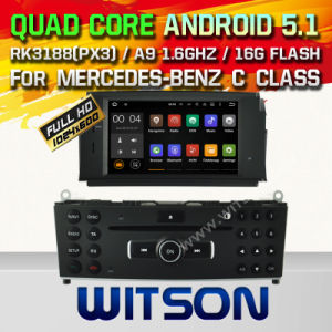 Witson Android 5.1 Car DVD for Mercedes-Benz C Class (A5704) pictures & photos